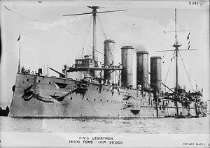 picture of hms laviathon ww1 ship and link to navy page